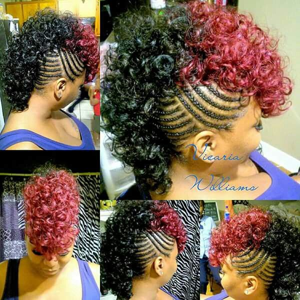 This Pretty But I Wouldn T Wear It Braided Mohawk Hairstyles Natural Hair Styles Weave Hairstyles Braided