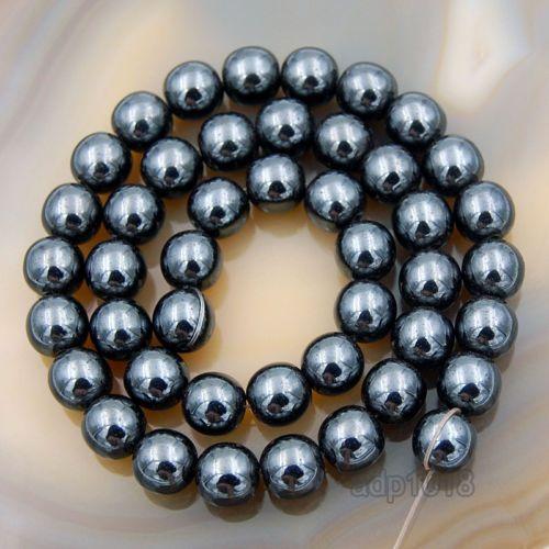 "2MM Natural Black Hematite Gemstone Beads Grade AAA Round Loose Beads 16/"""