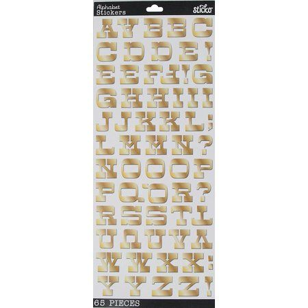 Arts Crafts Sewing Alphabet Stickers Gold Foil Sewing Crafts