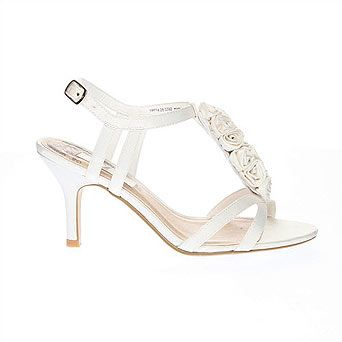 Ivory Fashion Wide Fit Diamante Corsage Tbar Shoes The Bride Wedding Bhs