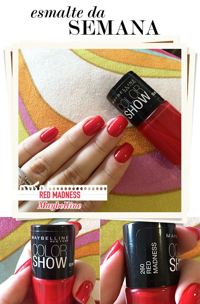 Red Madness – Esmalte da Semana    por Mônica Araújo | Oh My Closet!       - http://modatrade.com.br/red-madness-a-esmalte-da-semana