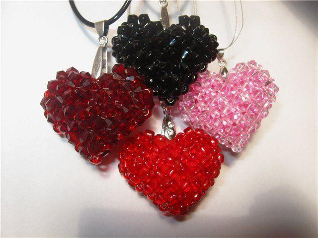 Сердца из бисера на день святого Валентина своими руками | 3vision - Fashion blog