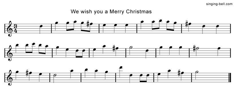 We Wish you a Merry Christmas   Free Xmas Music Scores/Sheets   Xmas music, Merry christmas ...