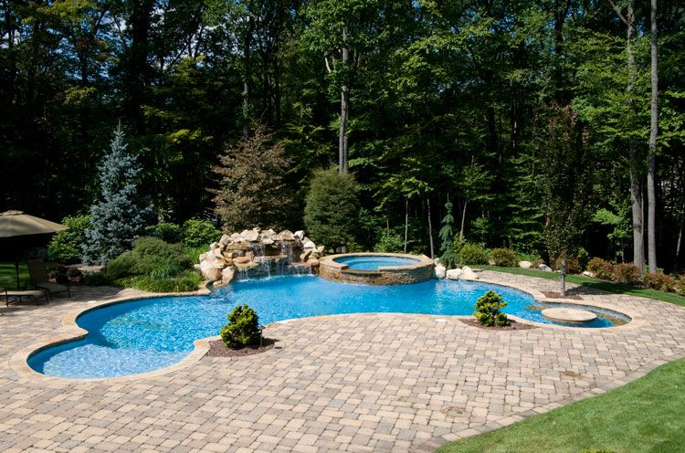 Inground Swimming Pool Photo | Home | Pinterest | Swimming Pools, Backyard  And Dream Pools Home Design Ideas