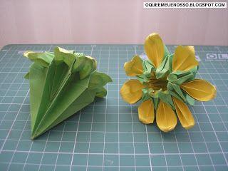 O que é meu é nosso: Origami Kusudama - Margarida - Marguerite - Mio Tsugawa