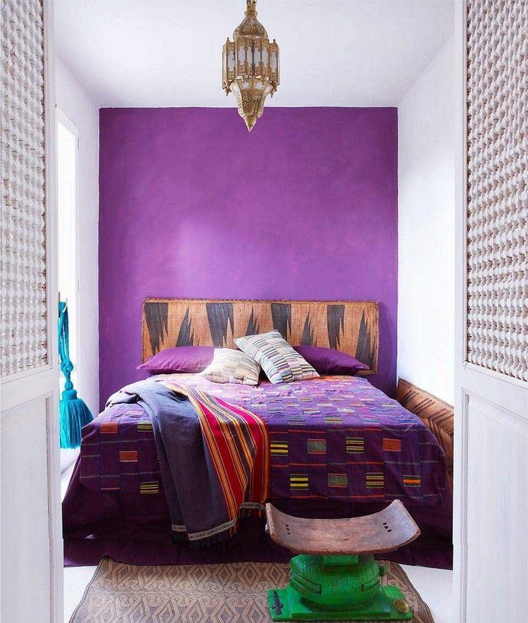 violette wand streichen schlafzimmer trendfarbe 2018 #violet