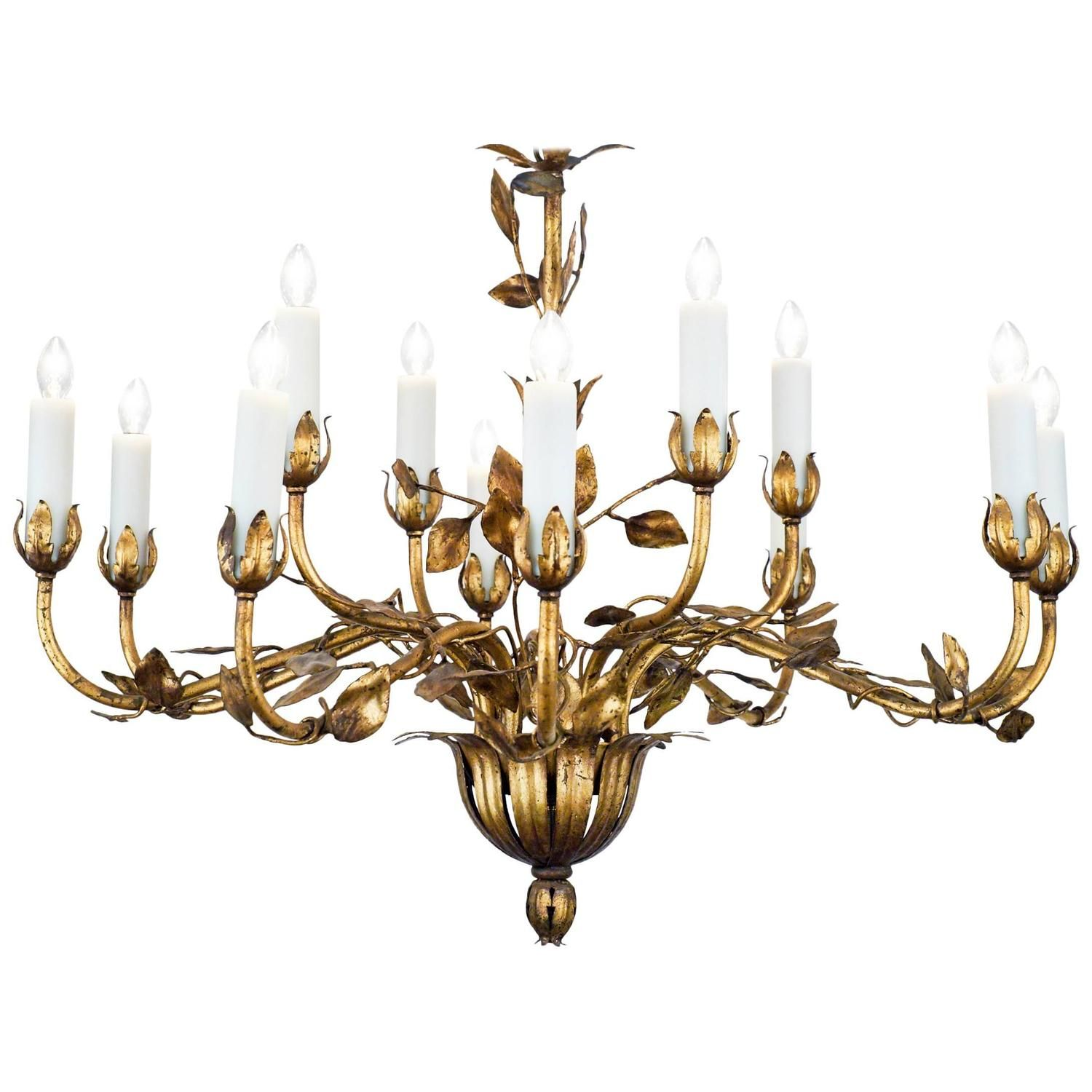 French gold leaf tole chandelier chandeliers leaves and pendant french gold leaf tole chandelier arubaitofo Gallery