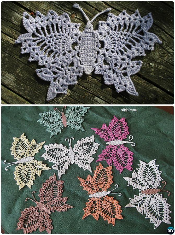 Delicate Lace Crochet Butterfly Free Pattern | Crochet is my life ...