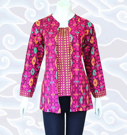 Desain Model Blus Batik Elegan Serta Modis Model Baju Pakaian Daur Ulang Desain Blus Pakaian Kerja