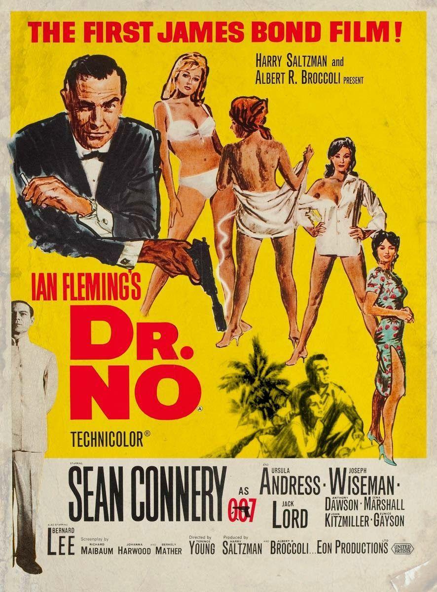 1962 007 Dr No First James Bond Movie James Bond Movies