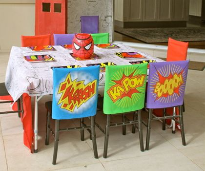 Chair Covers For Parties And Weddings Superhero Party