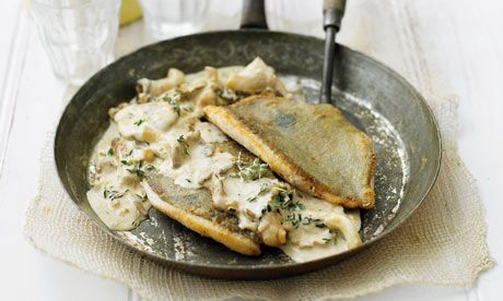 John-Dory-with-thyme and wild mushrooms
