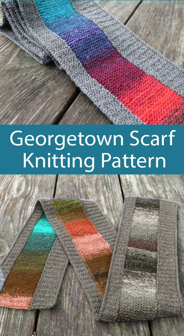 Photo of Knitting Pattern for Georgetown Scarf