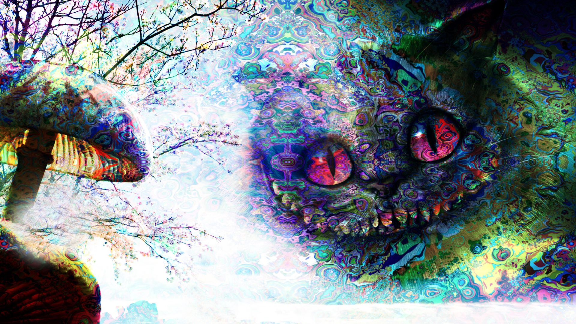 Trippy Alice In Wonderland