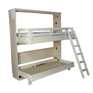 Bunk Bed open in Alabaster finish