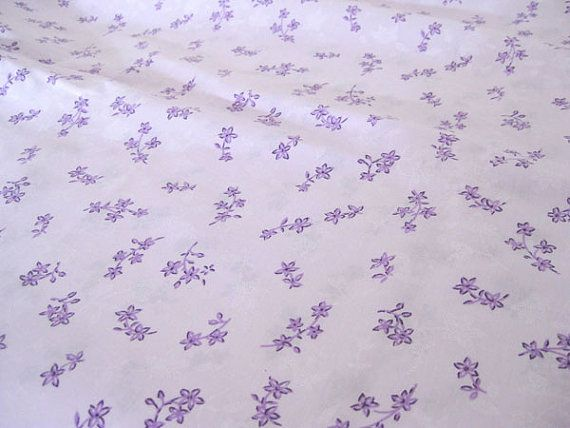 Vintage Fabric Purple Flowers On Lavender By The Yard X 44 Quot W 1970 39 S Retro Sewing Material Small Purple Flowers Vintage Fabric Purple Flowers