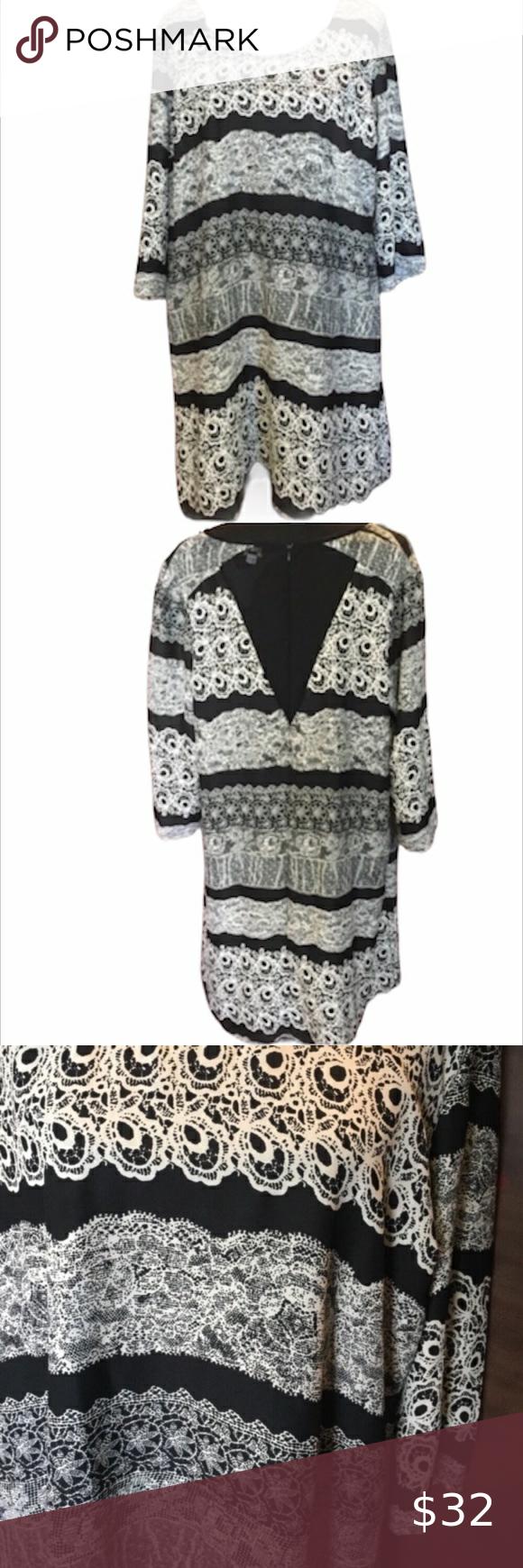 Grazia Dress Black And Cream Size 16 Black Dress Size 16 Dresses Clothes Design [ 1740 x 580 Pixel ]