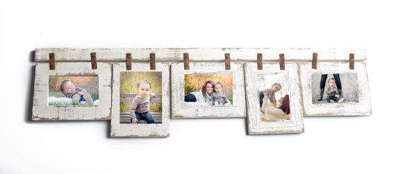Mixed Barnwood Collage Frame 5 Hole 5x7 Multi Opening Rustic Picture Reclaimed Landscape Or Portrait
