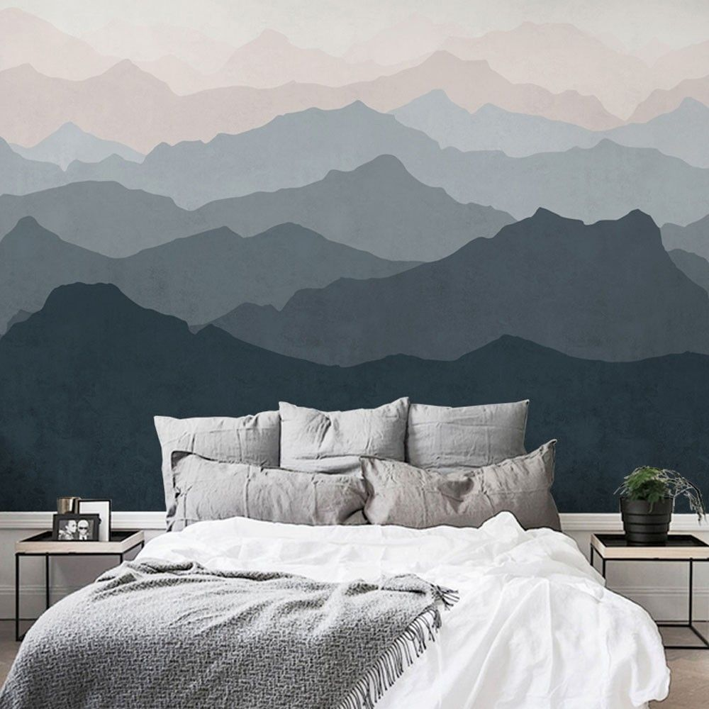 Mountain Mural Wall Art Wallpaper Peel And Stick