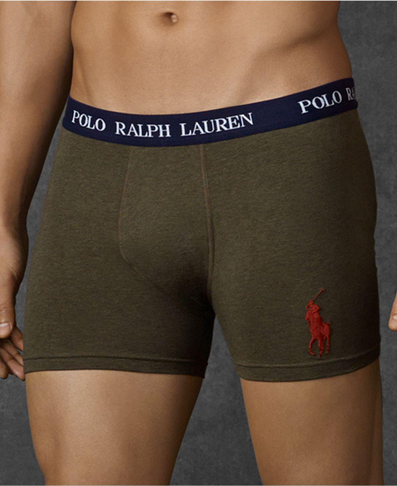 Polo Ralph Lauren Men's Underwear, Solid Stretch Cotton Jersey Boxer Brief  - Underwear & Undershirts - Men - Macy's