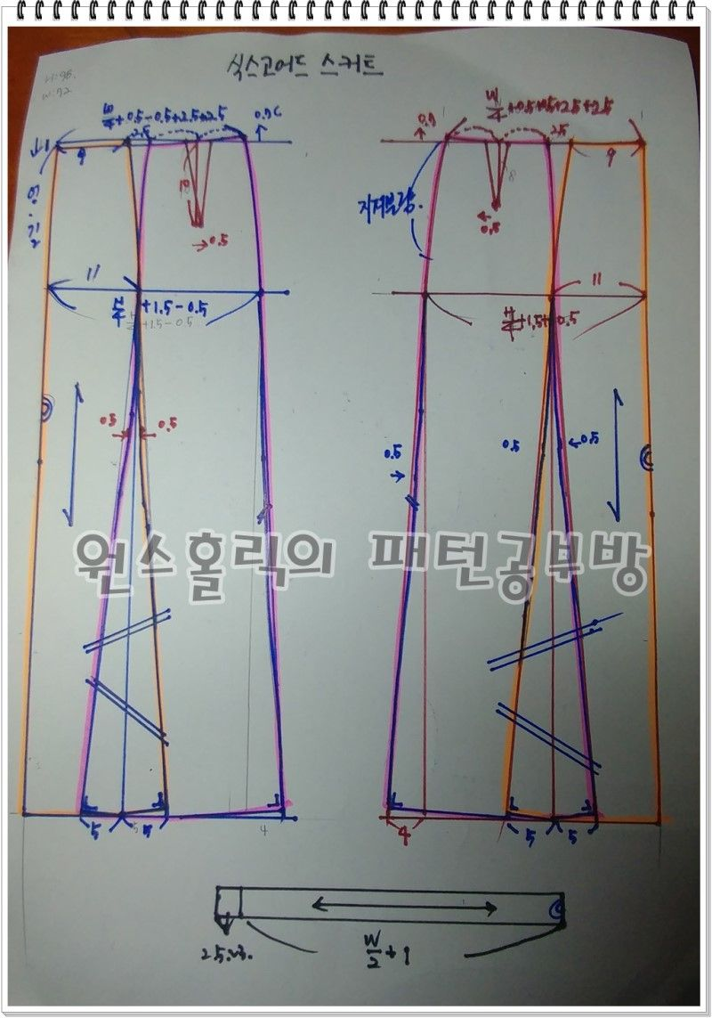 2ad1d040ef6 식스고어드스커트 제도하기 : 네이버 블로그 | спідниці | 스커트 패턴 ...
