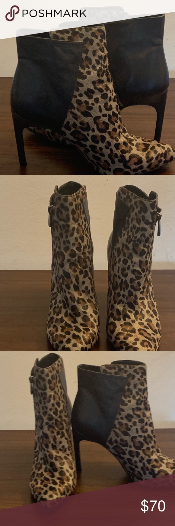 Jessica Simpson Leather & calf hair Bootie Chic ,Stylish 4' Black Leather and  leopard calf hair Shoe Bootie In excellent condition. Worn once around house and patio. Jessica Simpson Shoes Ankle Boots & Booties #jessicasimpsonhair Jessica Simpson Leather & calf hair Bootie Chic ,Stylish 4' Black Leather and  leopard calf hair Shoe Bootie In excellent condition. Worn once around house and patio. Jessica Simpson Shoes Ankle Boots & Booties #jessicasimpsonhair