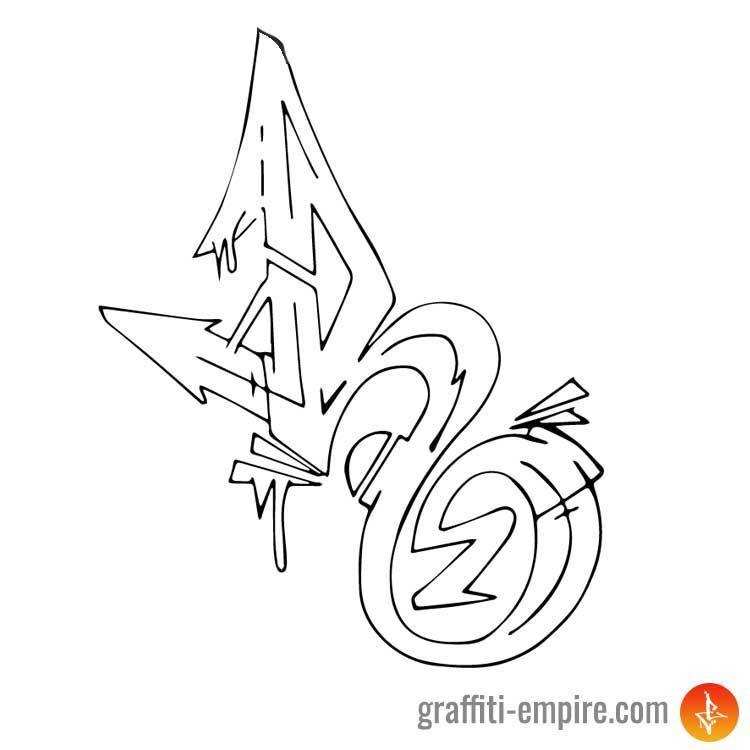 Graffonti Wildstyle Graffiti Alphabet H Graffiti Alphabet Wildstyle Graffiti