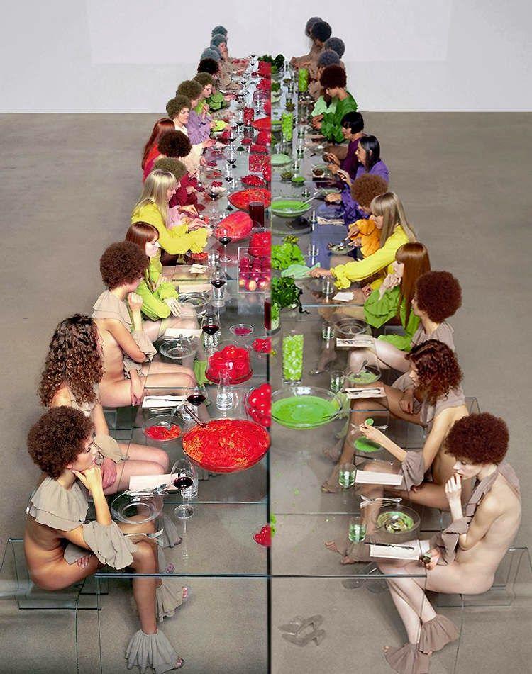 Vanessa Beecroft VB52, 2003-04 #Performance #CastellodiRivoli #torino #piemonte #food #art #contemporaryart