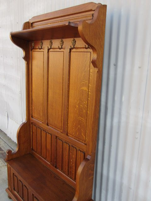 French Antique Hall Bench Antique Hall Tree Coat Rack Antique Extraordinary Hall Tree Coat Rack