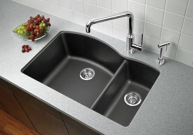 Silgranite Cinder Love This Product Granite Kitchen Sinks Cottage Kitchen Design Double Bowl Kitchen Sink