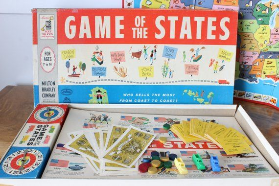Game of the States, 1960 Milton Bradley Board Game, United ...