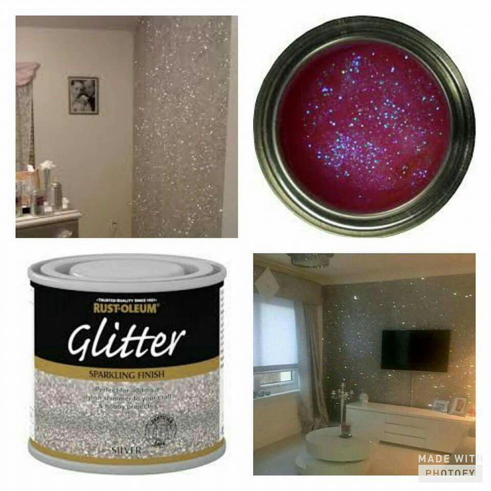 Glitter On The Walls How Cool Is That Bedroom Design