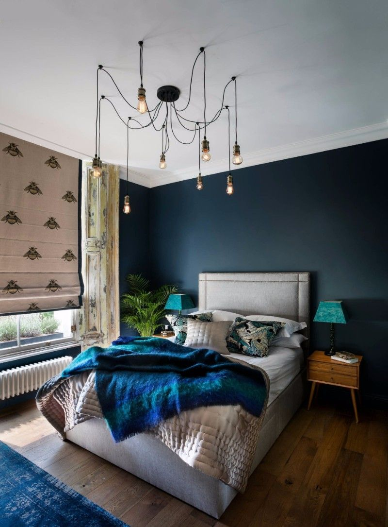 Master bedroom inspiration  Charming master bedroom inspiration with a rustic wood floor and