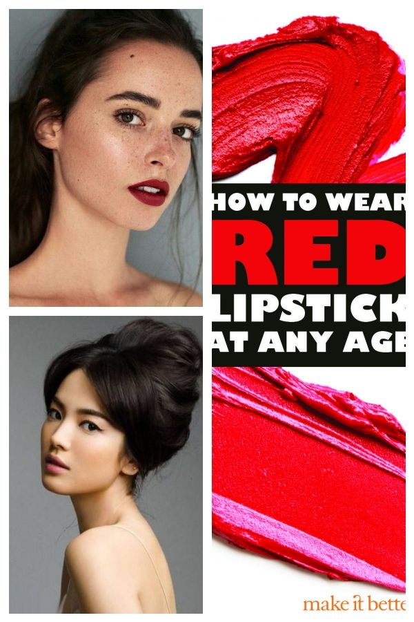 red lips, moist and minimal in the rest of the face – fitness #Minimalmakeup #face #Fitness #lips #M...