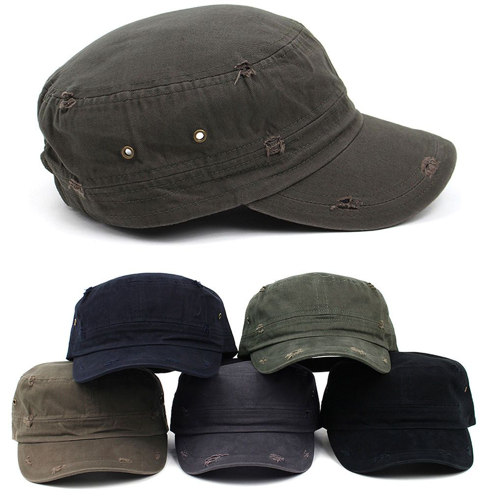 New Men S Classic Distressed Vintage Army Military Cadet Patrol Castro Caps Hats Hellobincomenter Cadetpatrolcas Army Fashion Caps For Men Style Hats For Men