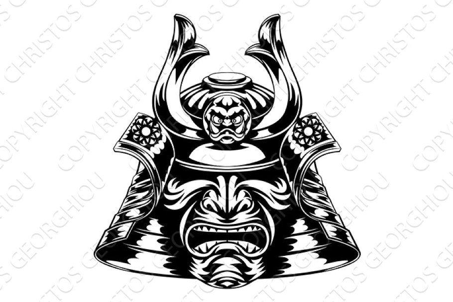 Helmet Japan Japanese Mask Samurai Traditional Warrior Icon Japan Icon Helmet Drawing Japanese Mask