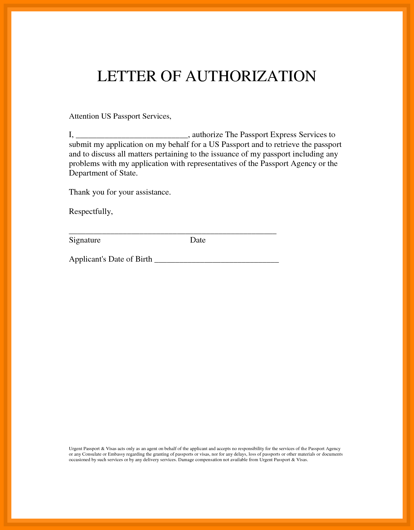 Authorization Letter 10 Best Authorization Letter Samples And