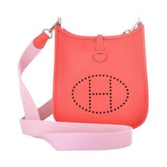 6a709d1c681e HERMES EVELYNE TPM MINI ROUGE PIVOINE W ROSE SAKURA CROSS BODY STRAP  JaneFinds