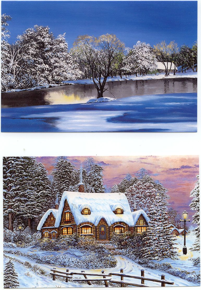 Beautiful christmas cards painted by mouth beautiful