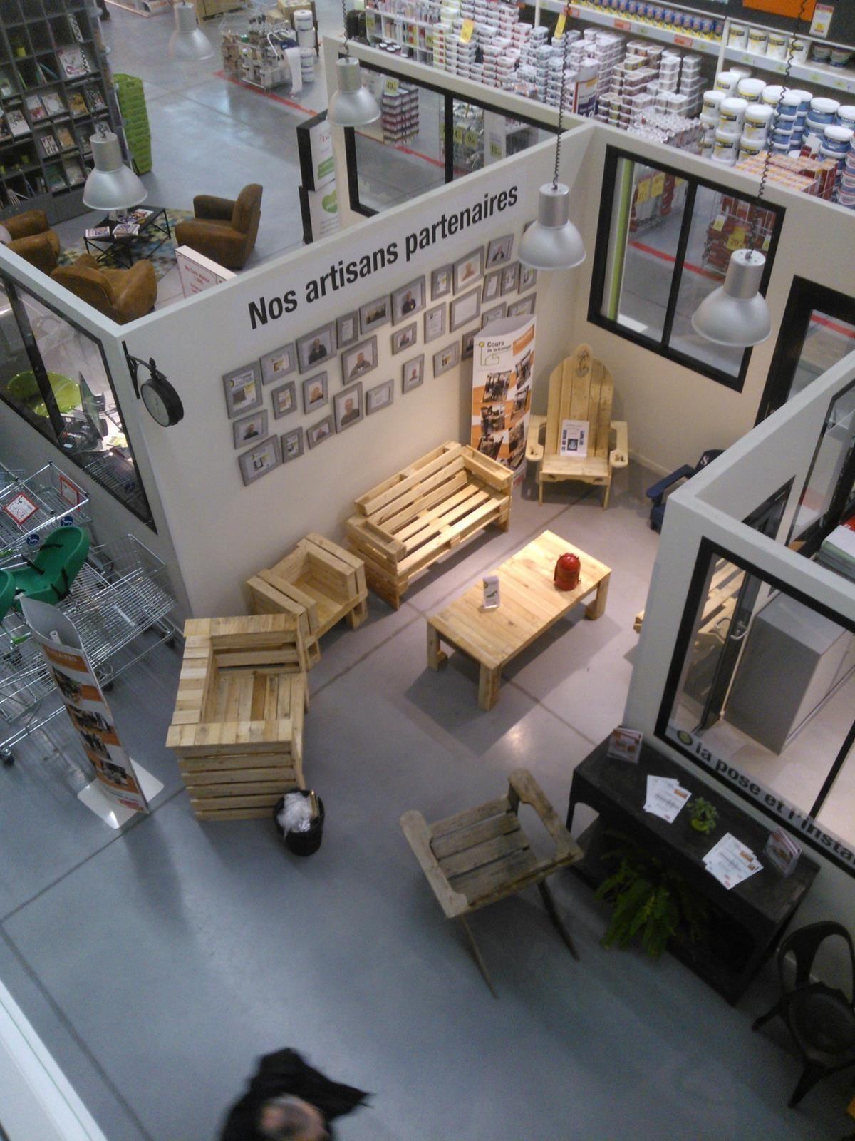 Création mobilier de jardin à partir de palettes Leroy Merlin Dinard ...