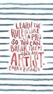 Photo of Picasso Print Brush Schriftzug LIEBE! Dieses Bild hat 809 Repins. Autor…