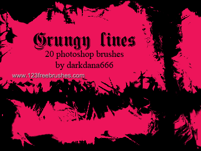 Grungy Lines - Download  Photoshop brush http://www.123freebrushes.com/grungy-lines-2/ , Published in #GrungeSplatter. More Free Grunge & Splatter Brushes, http://www.123freebrushes.com/free-brushes/grunge-splatter/ | #123freebrushes