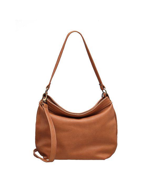 9238e65af89 Tan hobo purse - Tan soft leather bag - Leather hobo bag - Leather ...
