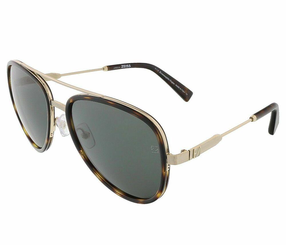 0675e0115bb1d eBay  Sponsored ERMENEGILDO ZEGNA EZ0008 28N - shiny rose gold   green  Metal Sunglasses