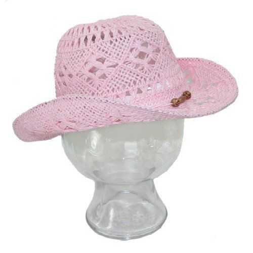 49af68120fb Cowgirl Hat for Kids by ElieKids ElieKids.  12.95. Western Child s Hat  accented by tone on tone trim with wood beading and a bow. Cowgirl Hat for  Kids ages ...