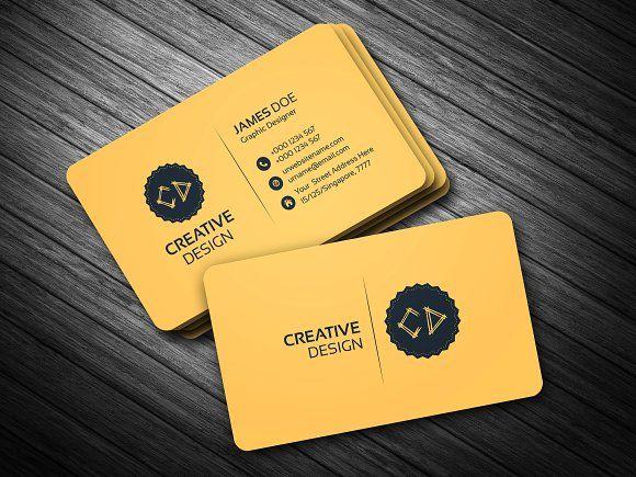 Golden Business Card Business Card Template Minimalist Business Cards Business Card Inspiration