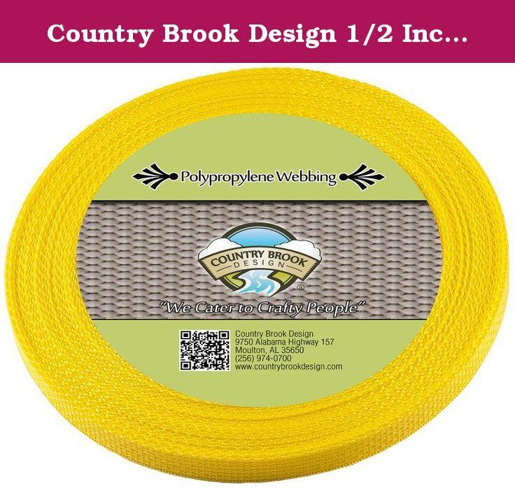 50 Yards Country Brook Design® 1//2 Inch Black Polypro Webbing