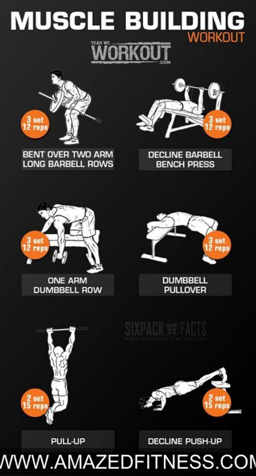 #Muscle Building #Workout - #Back #Chest Back #Arms Full Body Routine ...#fitness #exercise #bodybui...