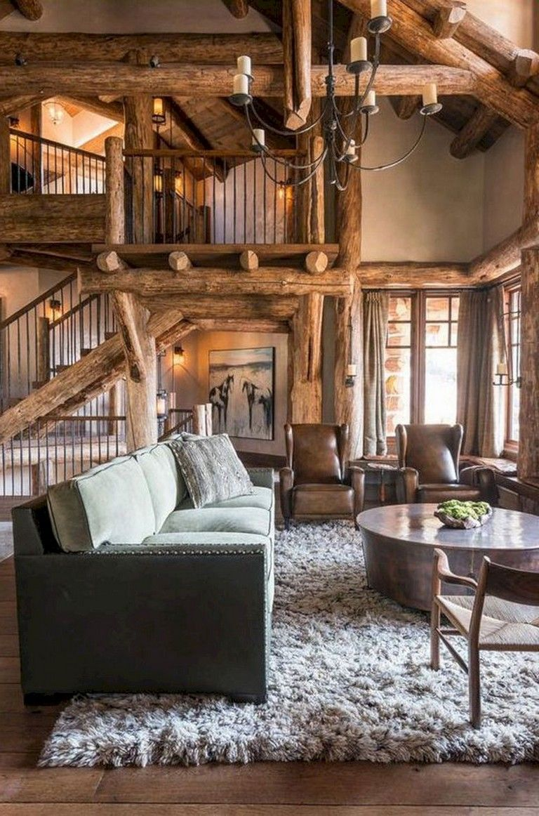 Pin On Living Room #rustic #cabin #living #room