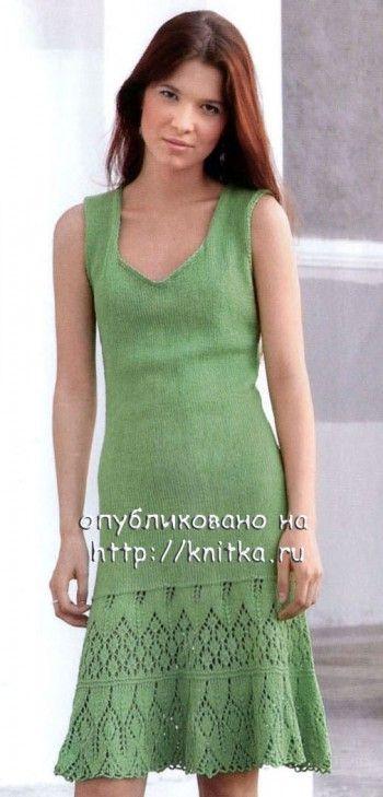 97943dcaf57 Вязаное зеленое платье